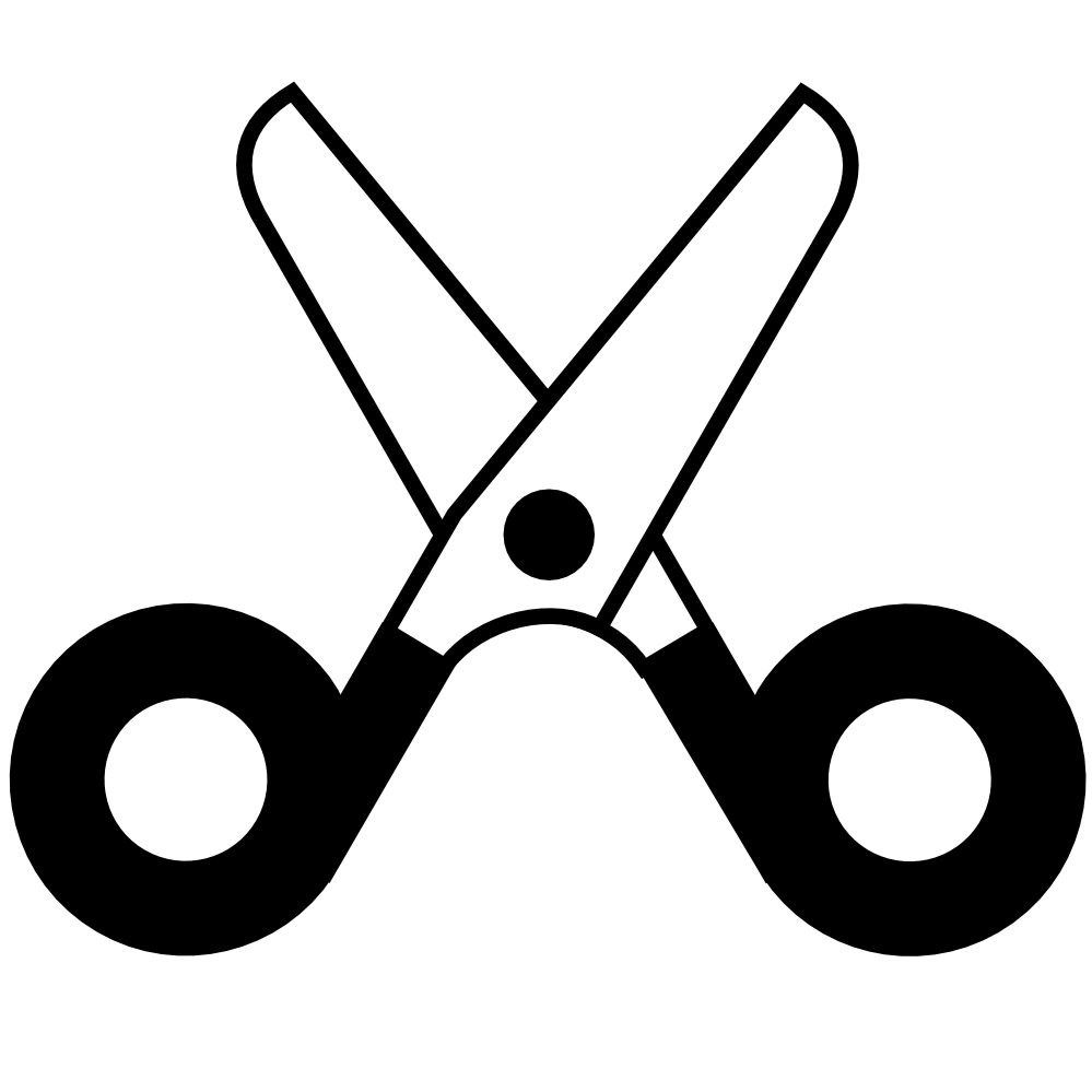 Scissor silhouette at getdrawings. Comb clipart sissor