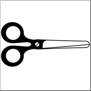 Clip art b w. Clipart scissors closed
