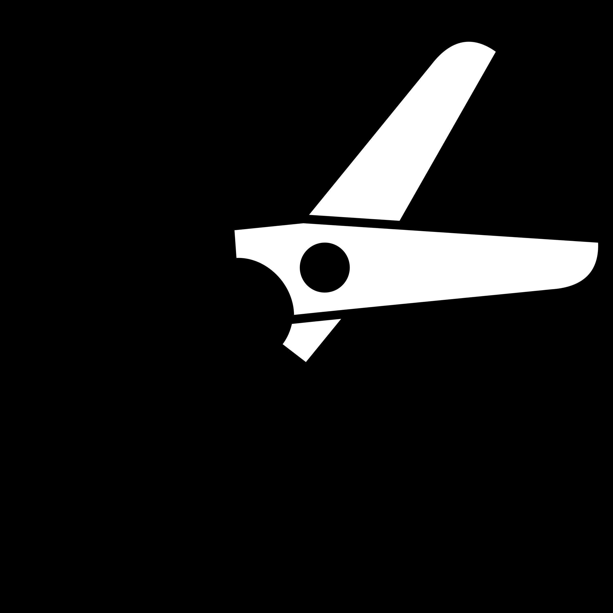 Half open icon big. Clipart scissors closed