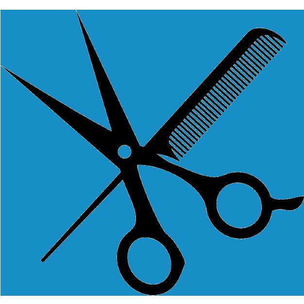 Clipart scissors comb. And simons hair shop