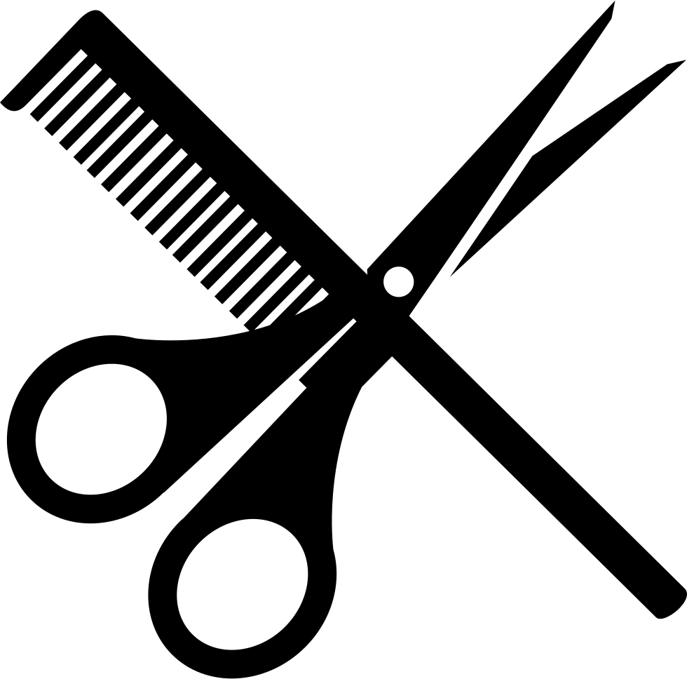 Scissors and comb svg. Shears clipart shear