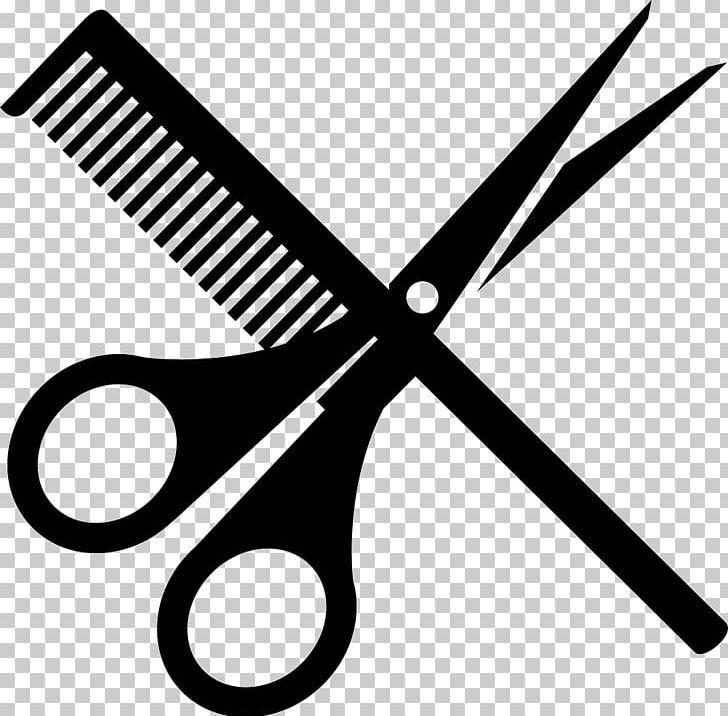 Hairdresser hair cutting shears. Clipart scissors comb