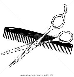 Clipart scissors comb. And panda free images