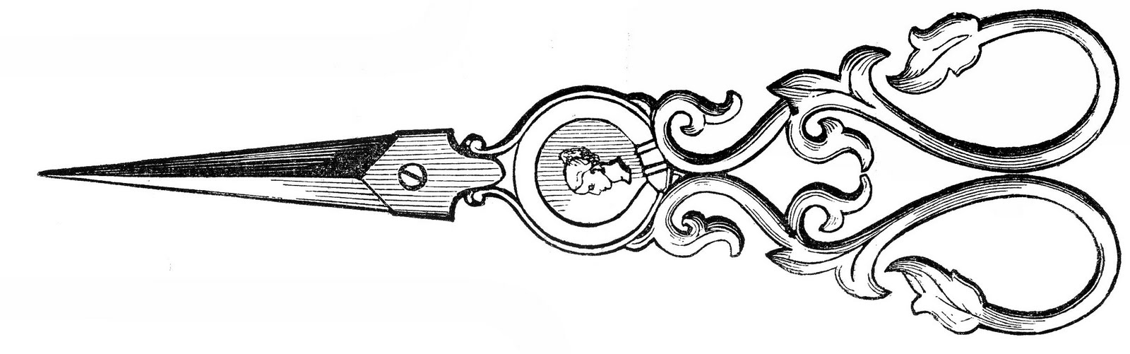 scissors graphics the. Shears clipart ornate