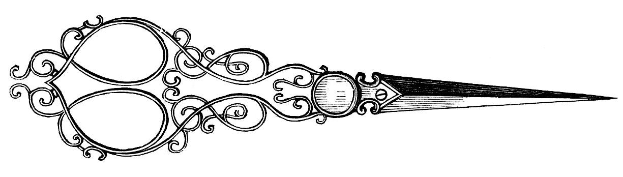 Shears clipart ornate.  scissors graphics the