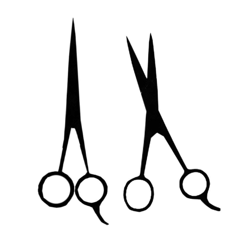 Hair scissors silhouette at. Shears clipart sizer