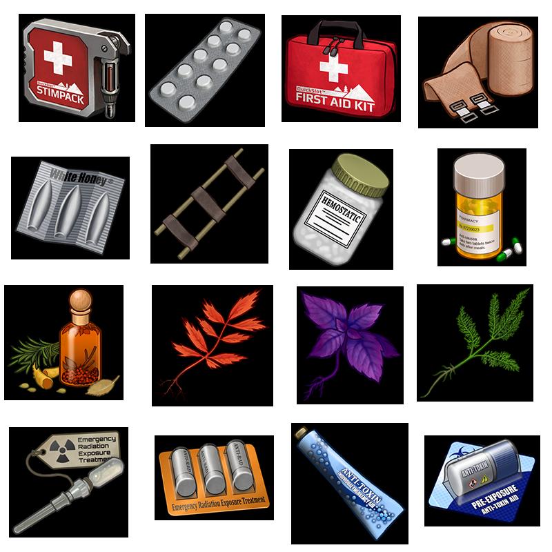 Collection of free haemastatics. Emergency clipart medicine kit