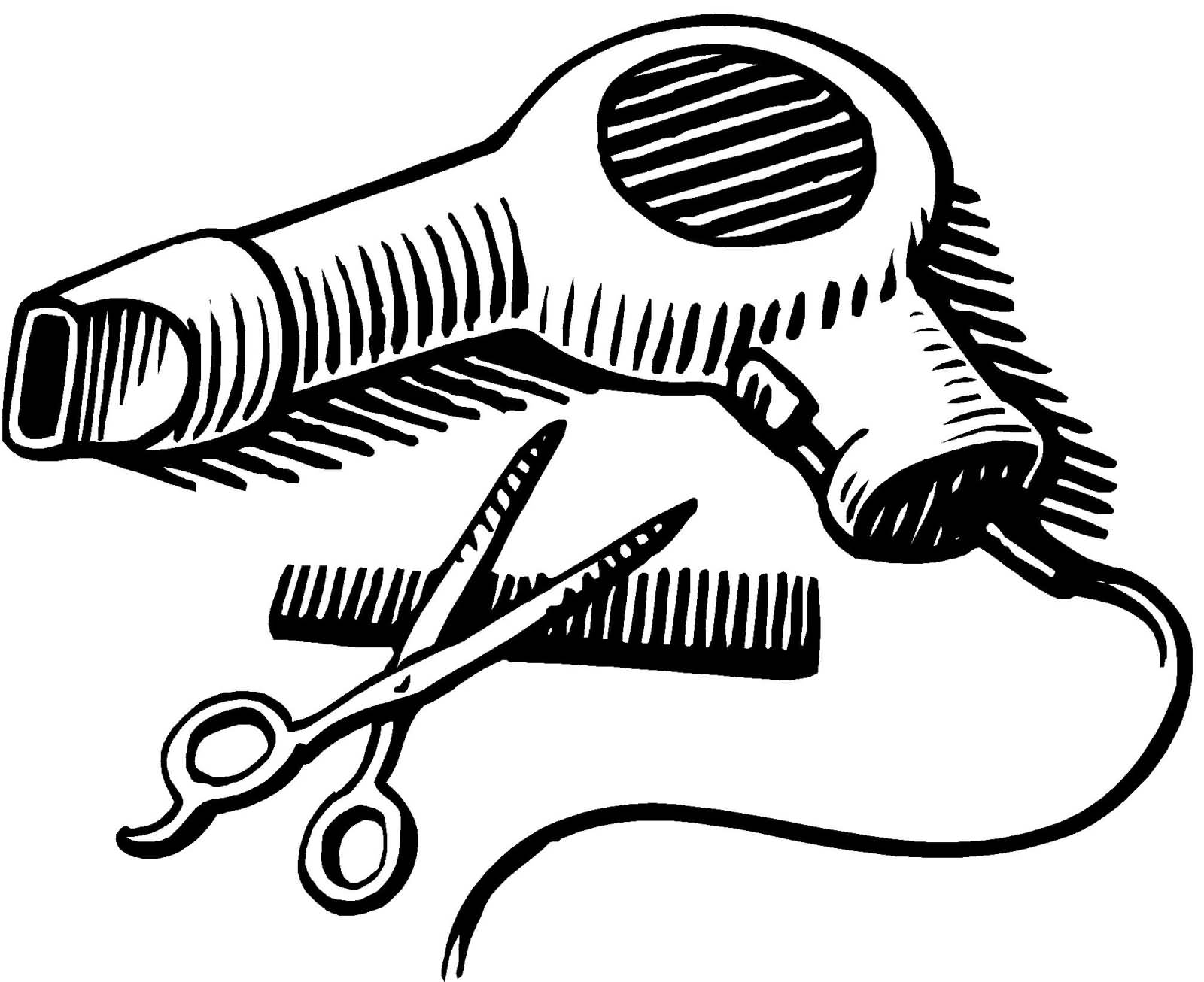 Clipart scissors hair dryer. Blow and png transparent