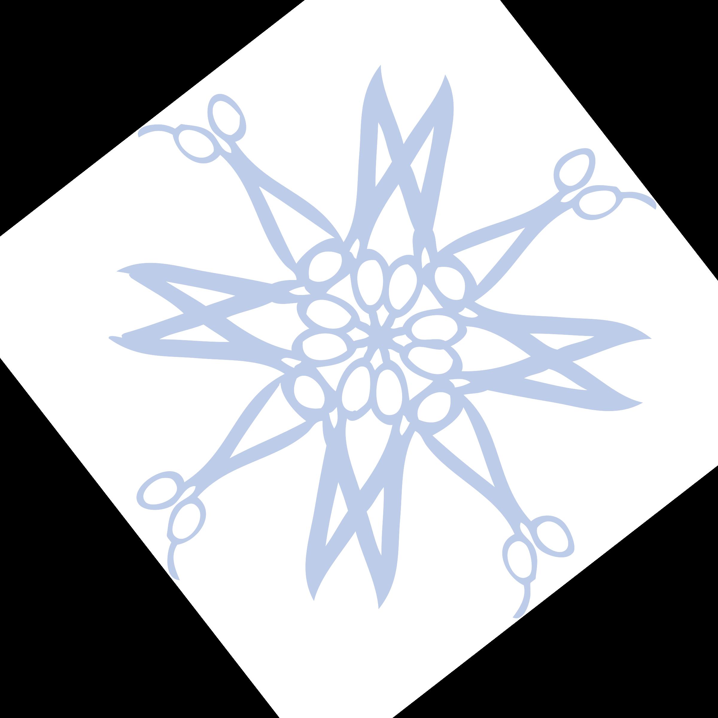 Clipart snowflake cut out. Hair cutting scissors blue