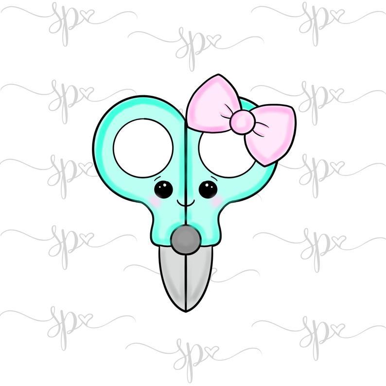 Clipart scissors kawaii. Cookie cutter