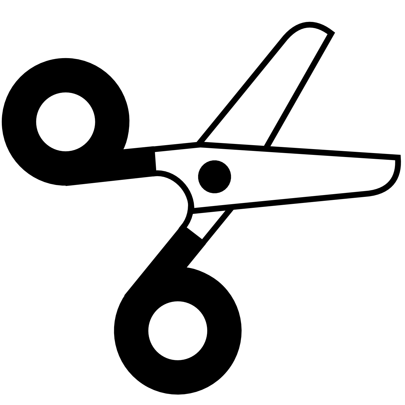 Black and white letters. Clipart scissors preschool