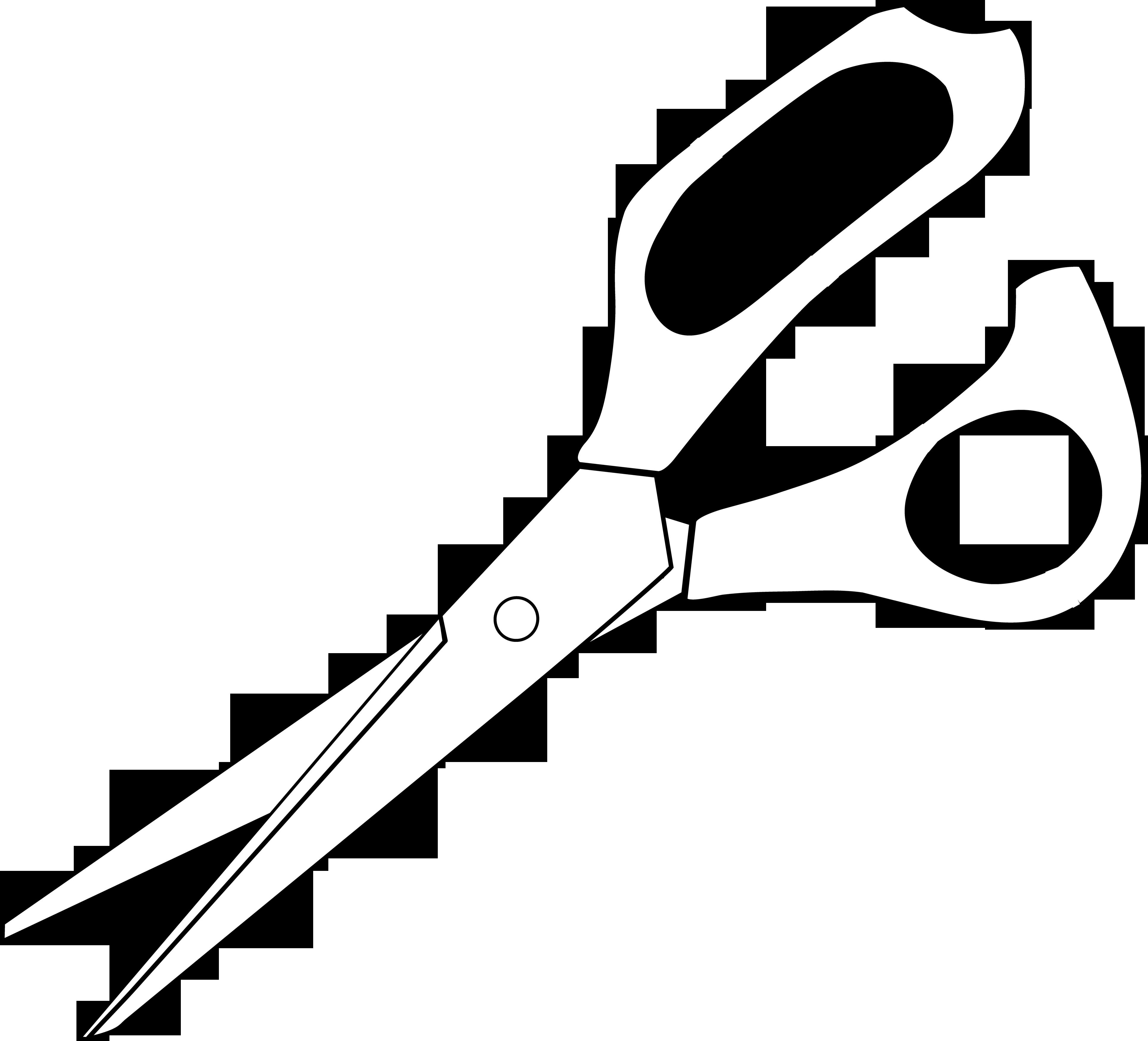 Clipart scissors scissor. Colorable line art free