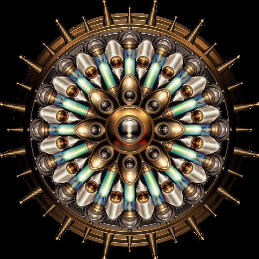 Machanical mandala by illustratorg. Steampunk clipart many gear