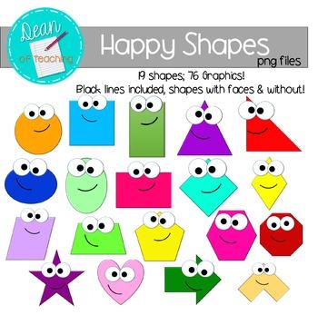 Clipart shapes. Happy clip art d