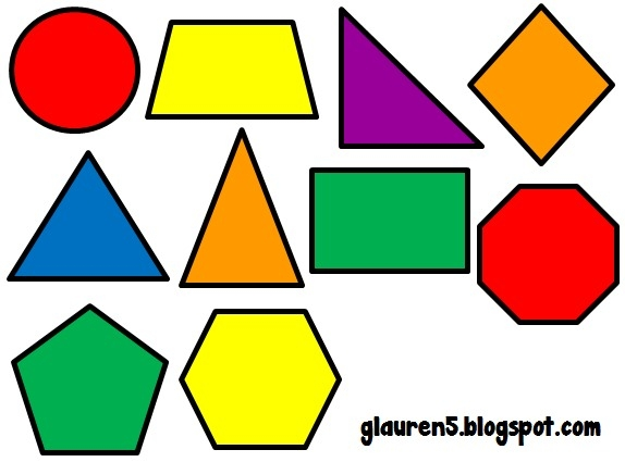 Geometric with regard to. Shapes clipart