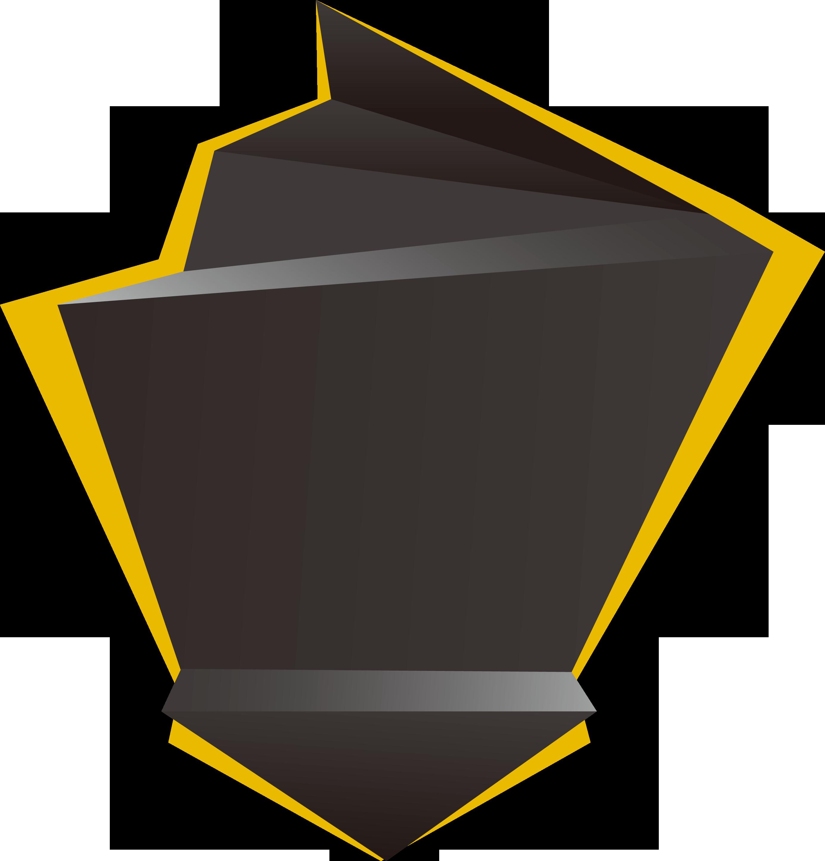 Triangular clipart geometric shape. Geometry creative custom yellow