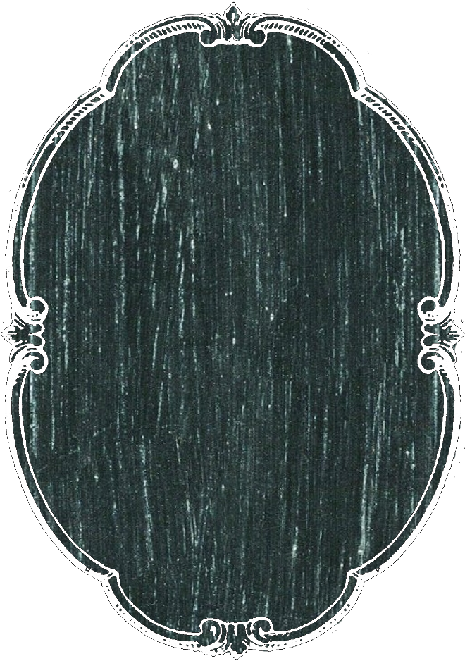 Vertical oval chalkboard tag. Label clipart chalk