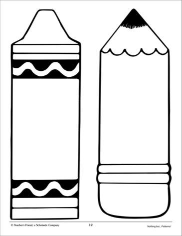Crayon clipart shape. Template clip art library