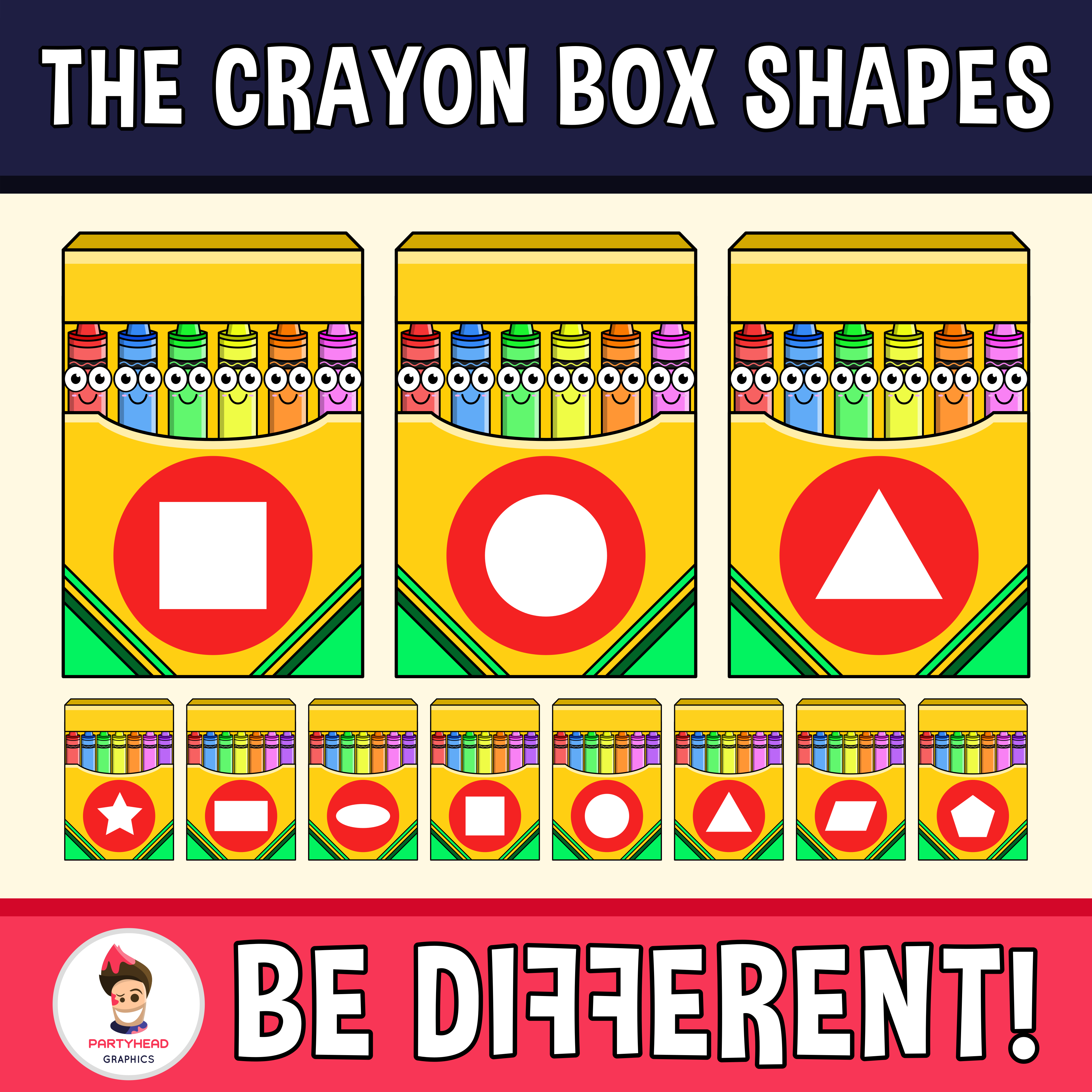 Crayon clipart shape. Box shapes