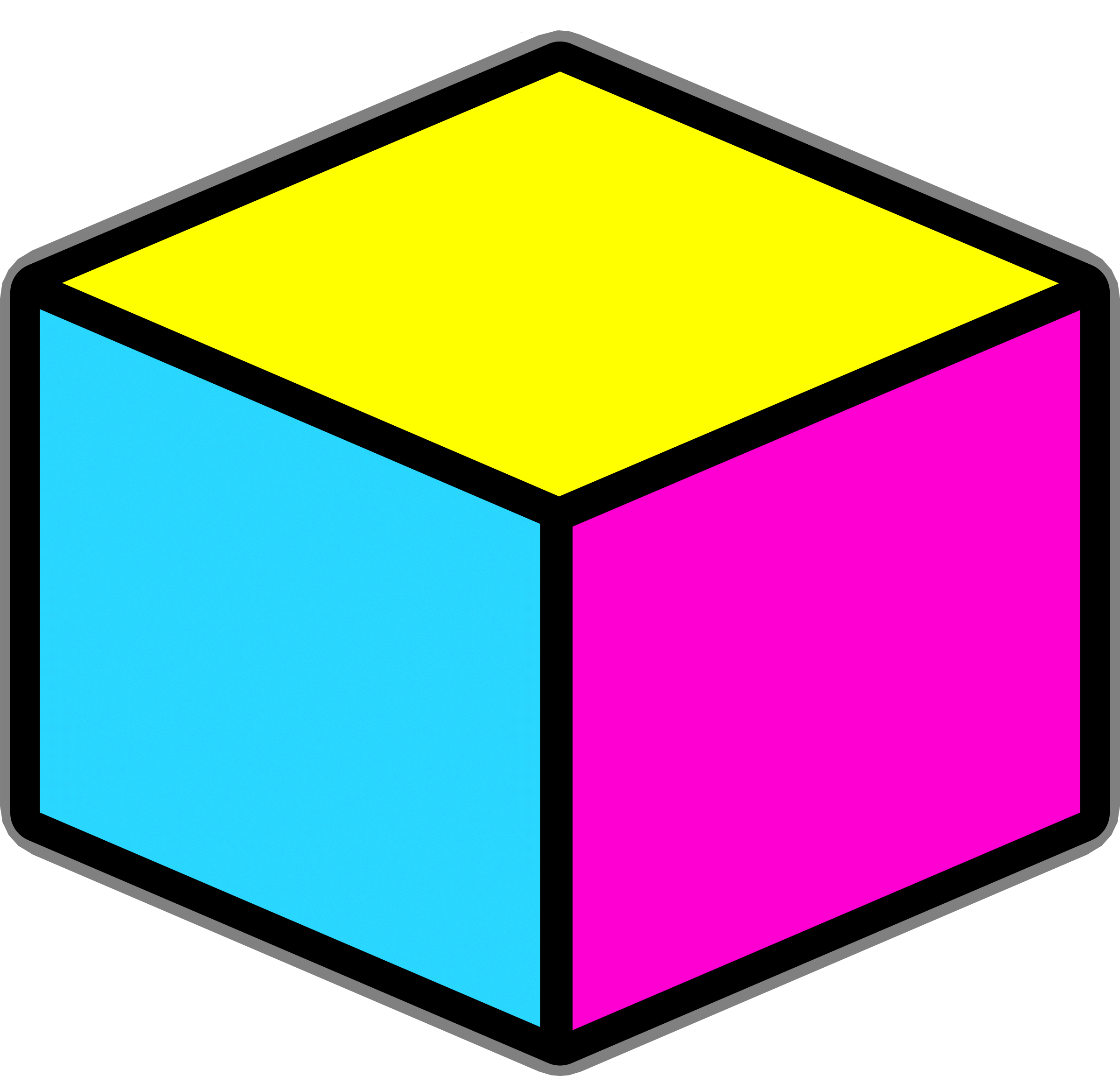 Cube cliparts all images. Crayon clipart shape