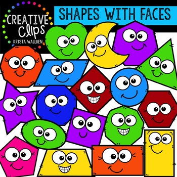 With faces shape clips. Shapes clipart creative