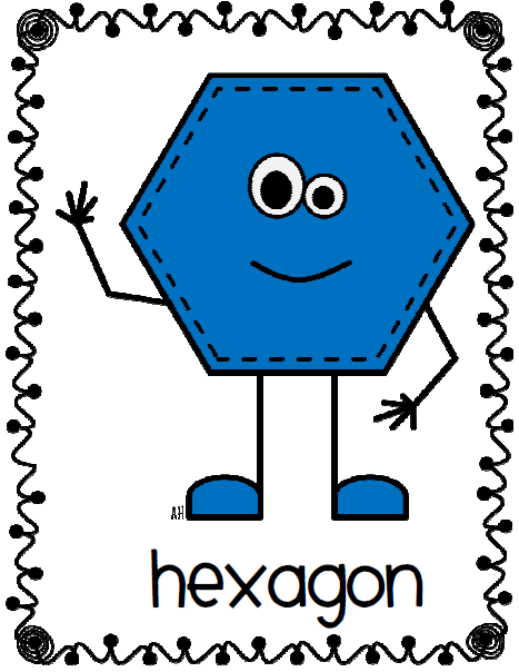 Free shape cliparts download. Hexagon clipart cute