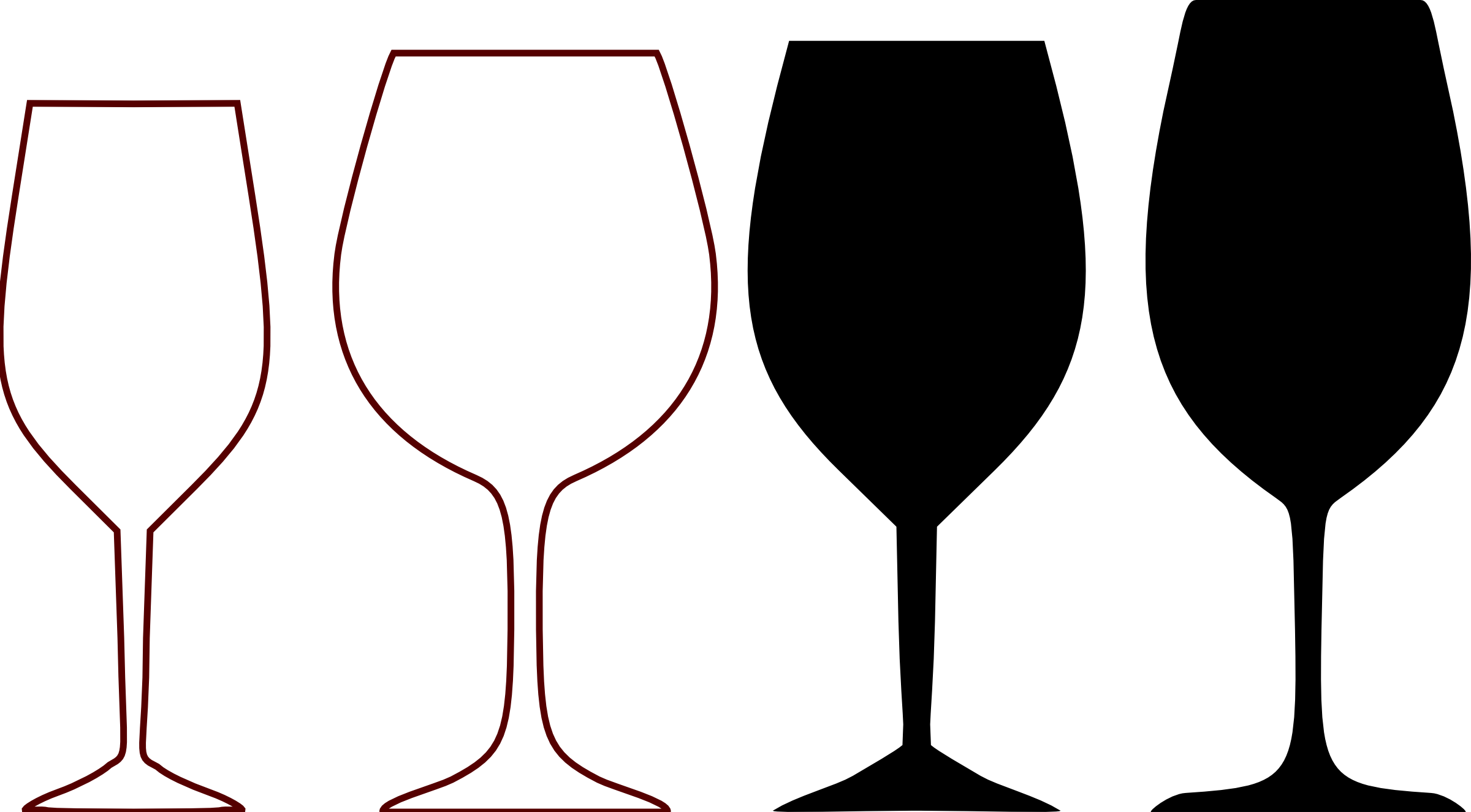 Clipart shapes elegant. Wine glass