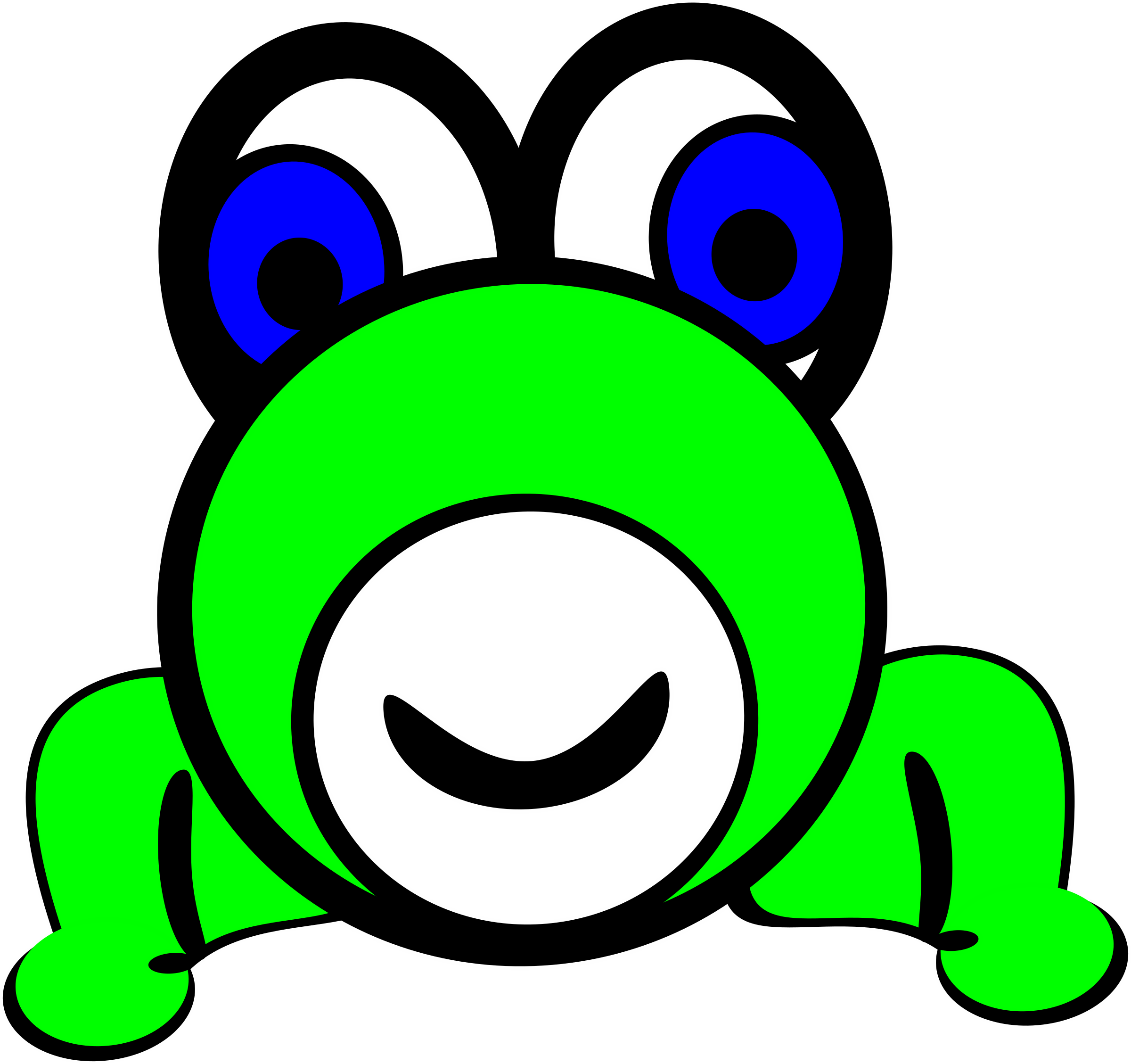 Frog by peterbrough on. Frogs clipart head
