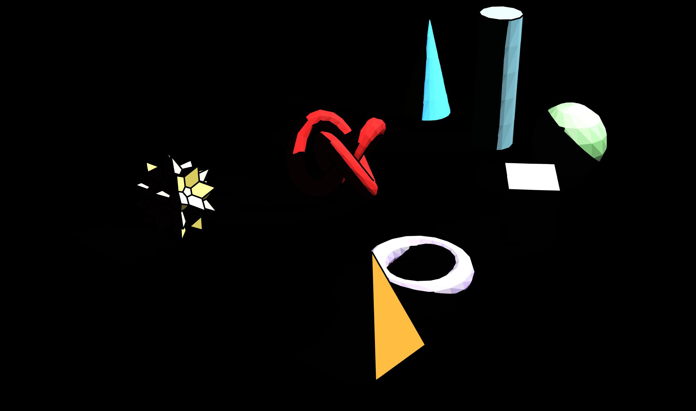 Geometric shapes big image. Geometry clipart 3d shape