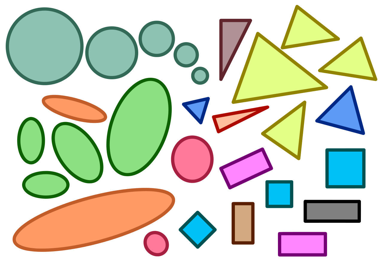 Evaluation clipart interpretation. File similar geometric shapes