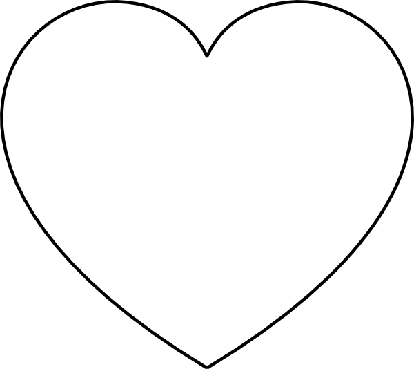 Large heart cut out. Hearts clipart star