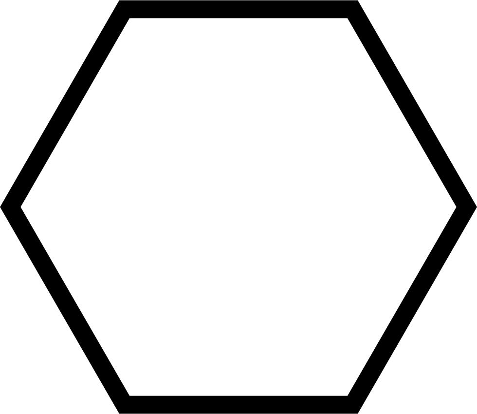 Geometrical shape outline svg. Clipart shapes hexagon