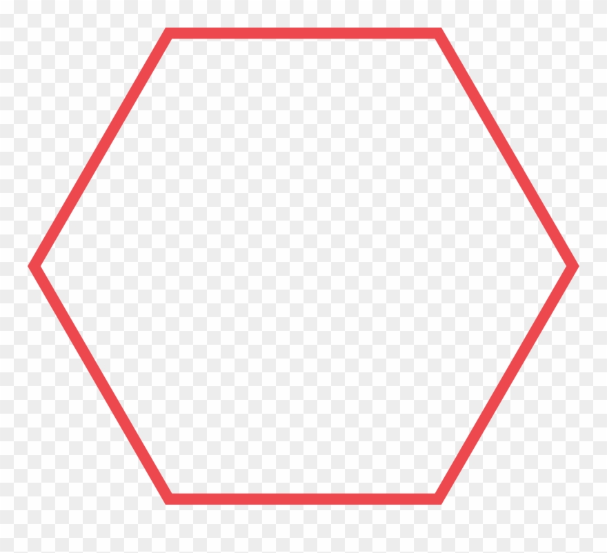 Shape free download best. Hexagon clipart red