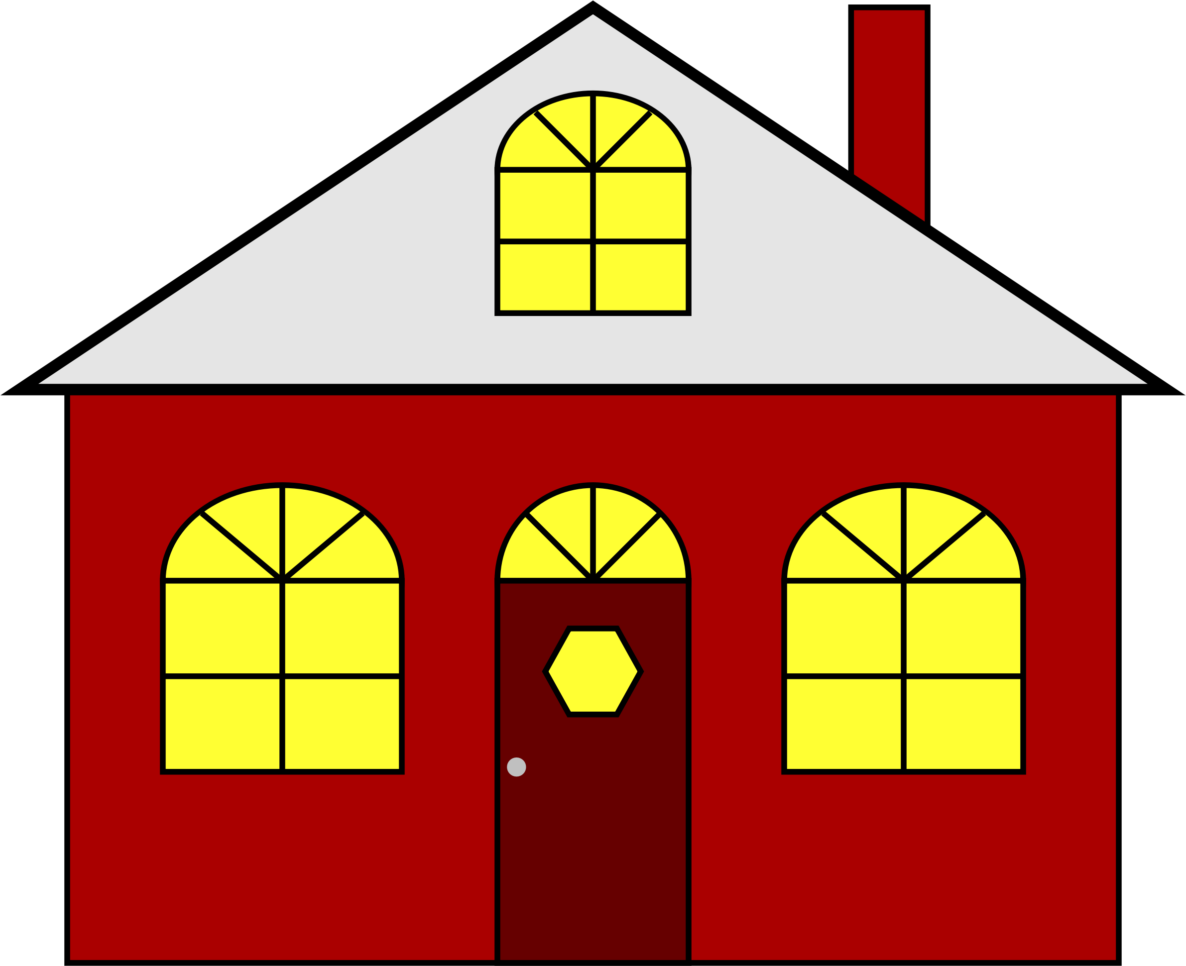 Lighted big image png. Clipart shapes house