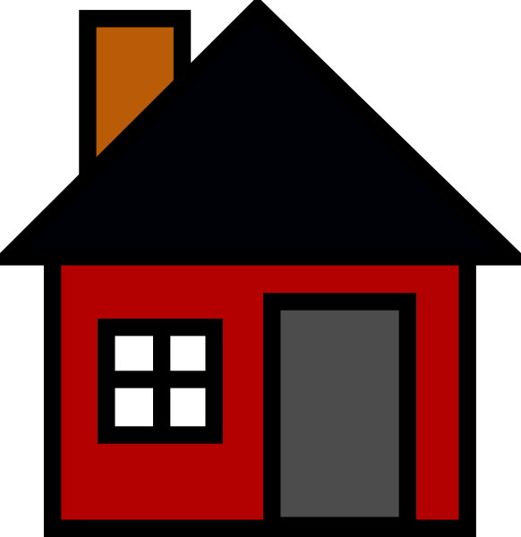 Clipart shapes house. Small red icon clip
