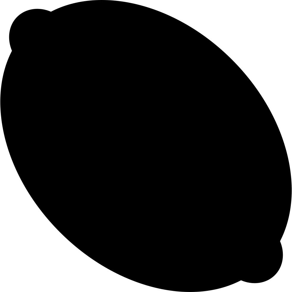 Lemon clipart shape. Svg png icon free