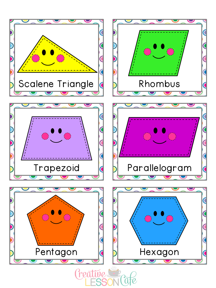 Free cute shape cliparts. Shapes clipart name