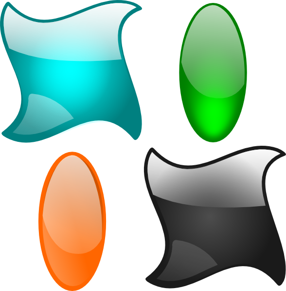 Dot clipart basic shape. Glossy shapes clip art