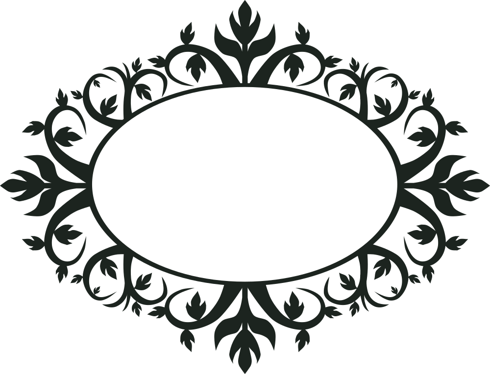 Onlinelabels clip art ornament. Oval picture frame png