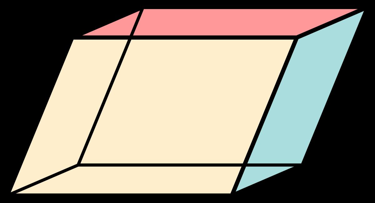 Shapes clipart parallelogram, Shapes parallelogram Transparent FREE