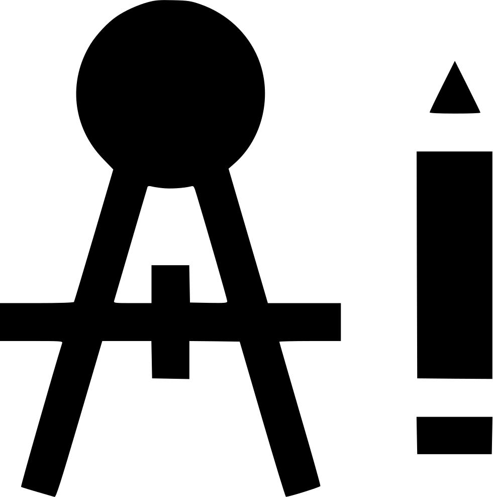 Compass pen graphic design. Clipart shapes pencil