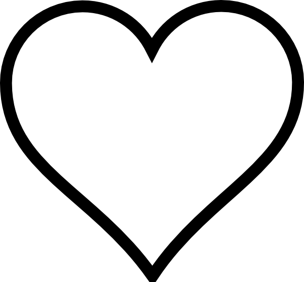 Number 1 clipart heart. Thick shape clip art