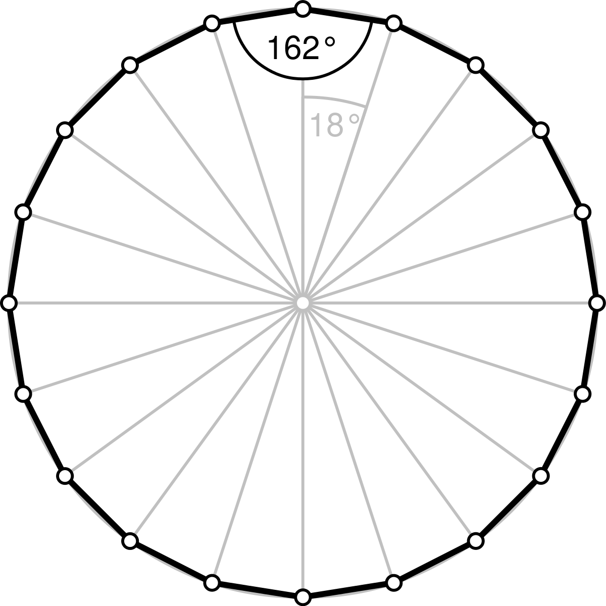 Icosagon wikipedia . Fractions clipart drawing