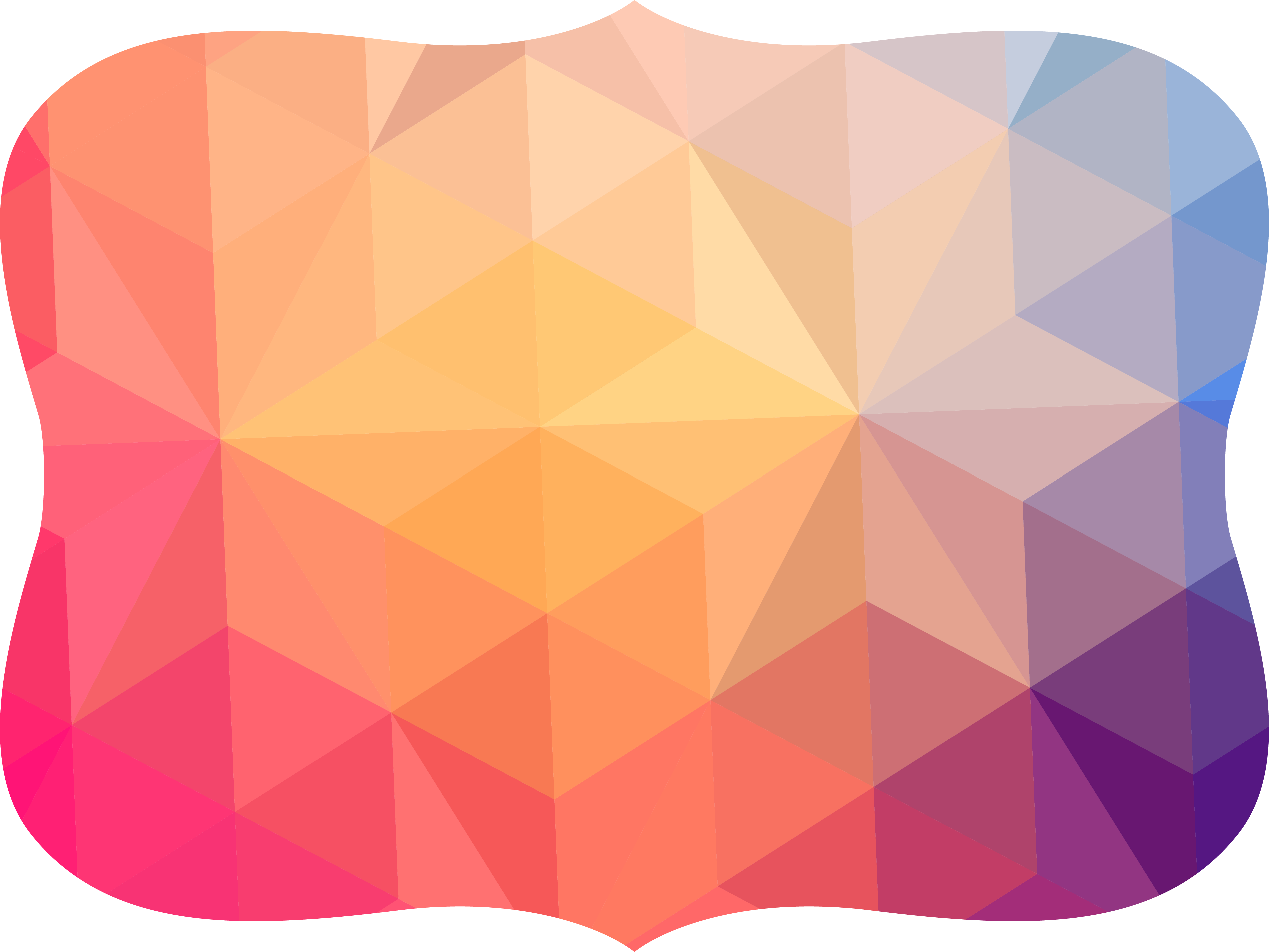 Geometry clipart polygon. Colorful abstract geometric border