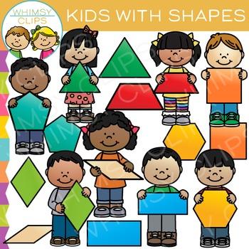 Shapes clipart preschooler. Kids with d clip