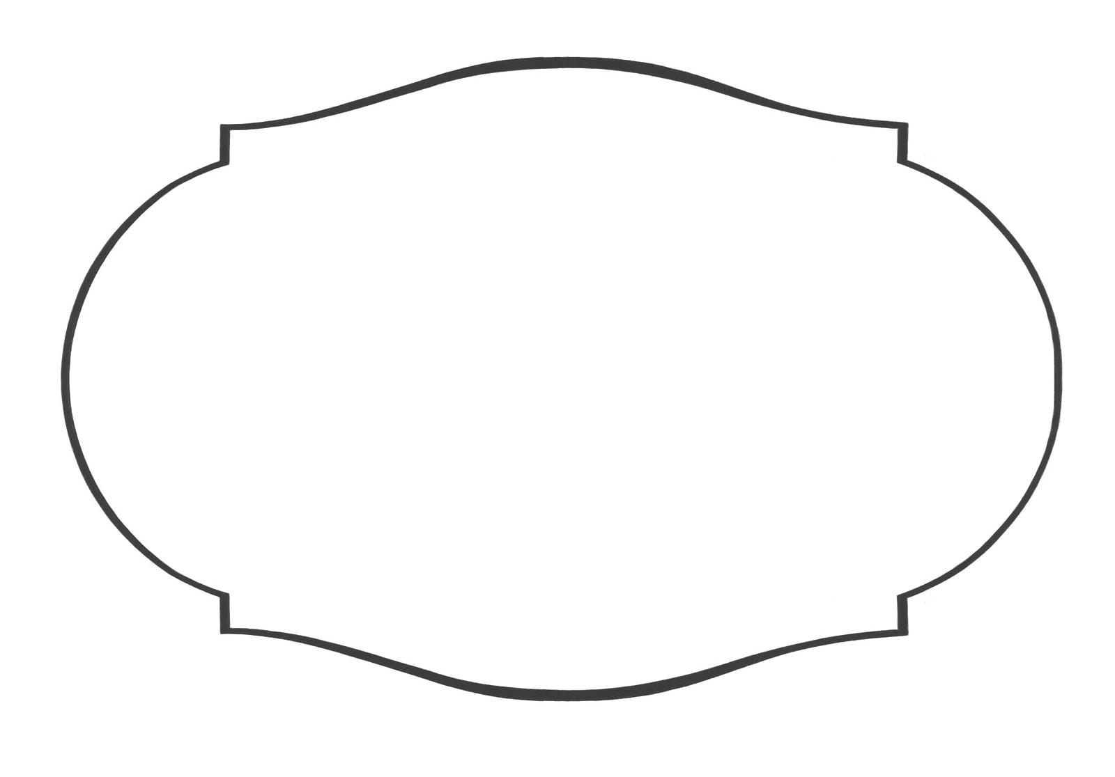 Free vintage shape cliparts. Label clipart label outline