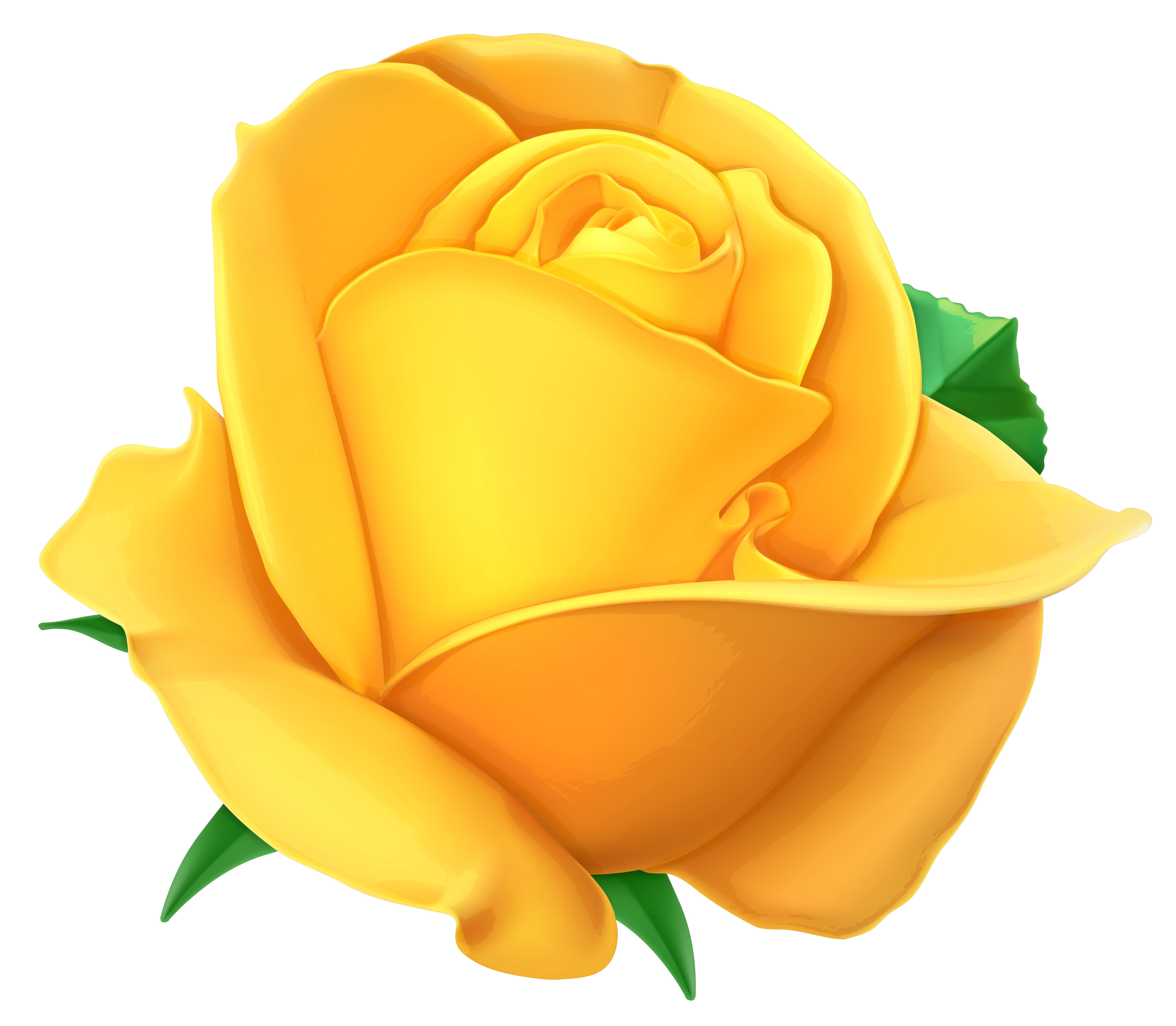 Transparent yellow png picture. Clipart shapes rose