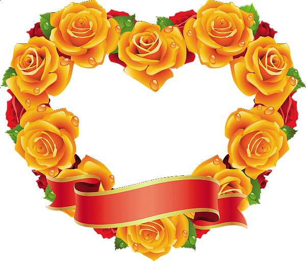 Clipart shapes rose. Yellow and red roses
