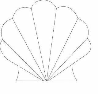 Shell clipart cut out. Seashell cutout mermaid invitations