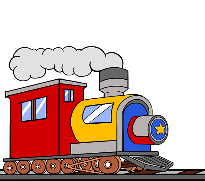 Engineering clipart steam. Train drawing pictures at